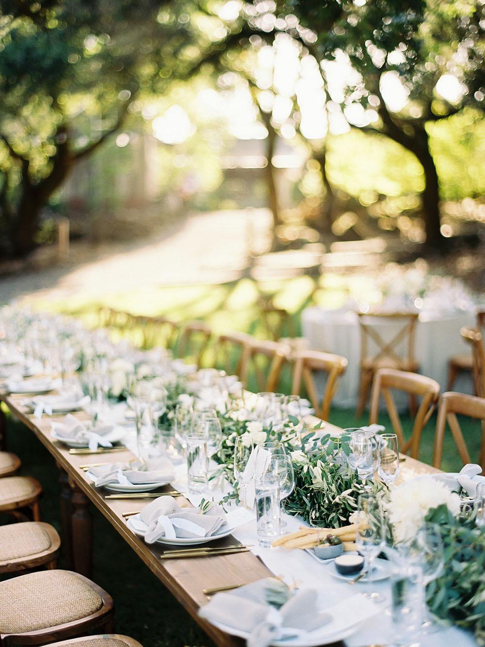 Arista Winery Weddings Table
