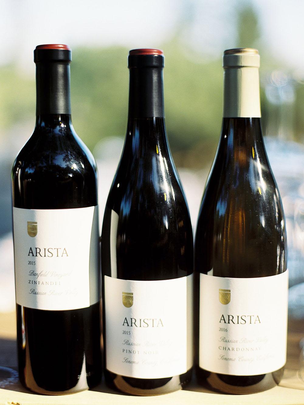 Arista Winery Weddings Wine